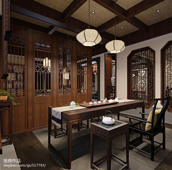 中式风格——中式茶楼设计方案表现_2