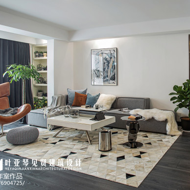 温馨现代风三居客厅设计图