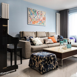 简约风格二居小客厅设计图