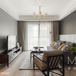 105m²小资美式小客厅设计图