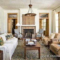 美式风格客厅整体状图片