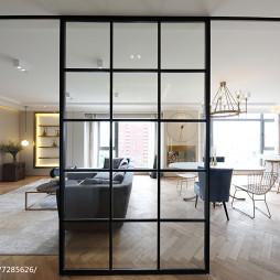 宽敞北欧三居客厅餐厅一体设计图