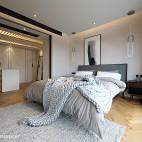 宽敞北欧三居卧室设计图片