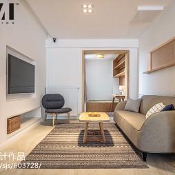 日式风格三居客厅设计效果图