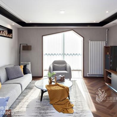 优雅现代三居客厅设计效果图