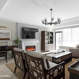 简单美式四居客厅设计效果图