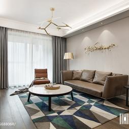 120㎡ 现代三居客厅设计效果图