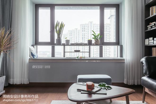 朴素北欧三居窗台设计图