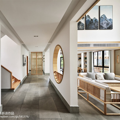 日式別墅過道設計圖