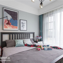 120平方北欧三居卧室设计图片