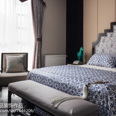 淄博荷塘月色别墅装修,新中式装修效果图赏析_2953760