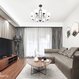 简约精装客厅吊灯设计图