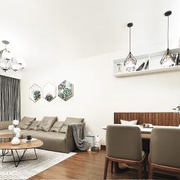 简约精装餐厅客厅一体设计图