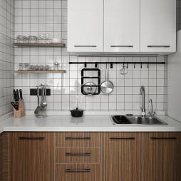 小户型北欧风厨房设计图片