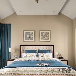 田园美式别墅卧室设计图片