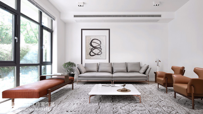 简单混搭别墅客厅设计图片