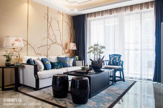 传统中式三居客厅设计图