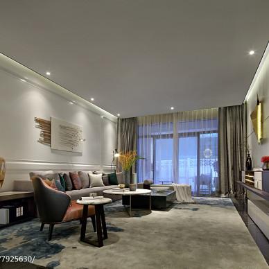 現代豪宅客廳設計圖片