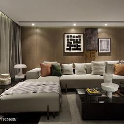 現代豪宅休閑區沙發設計圖