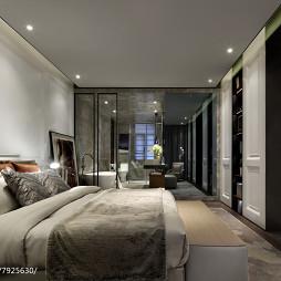现代豪宅卧室设计效果图