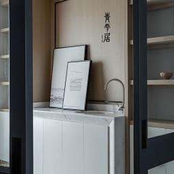 豪华现代四居书房洗手台设计图