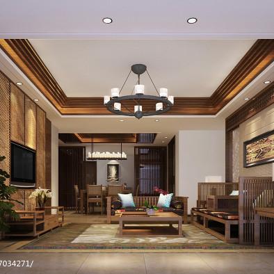 海南国瑞样板房设计东南亚风格