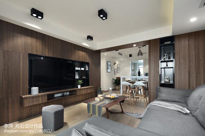 简单北欧风三居客厅设计图片