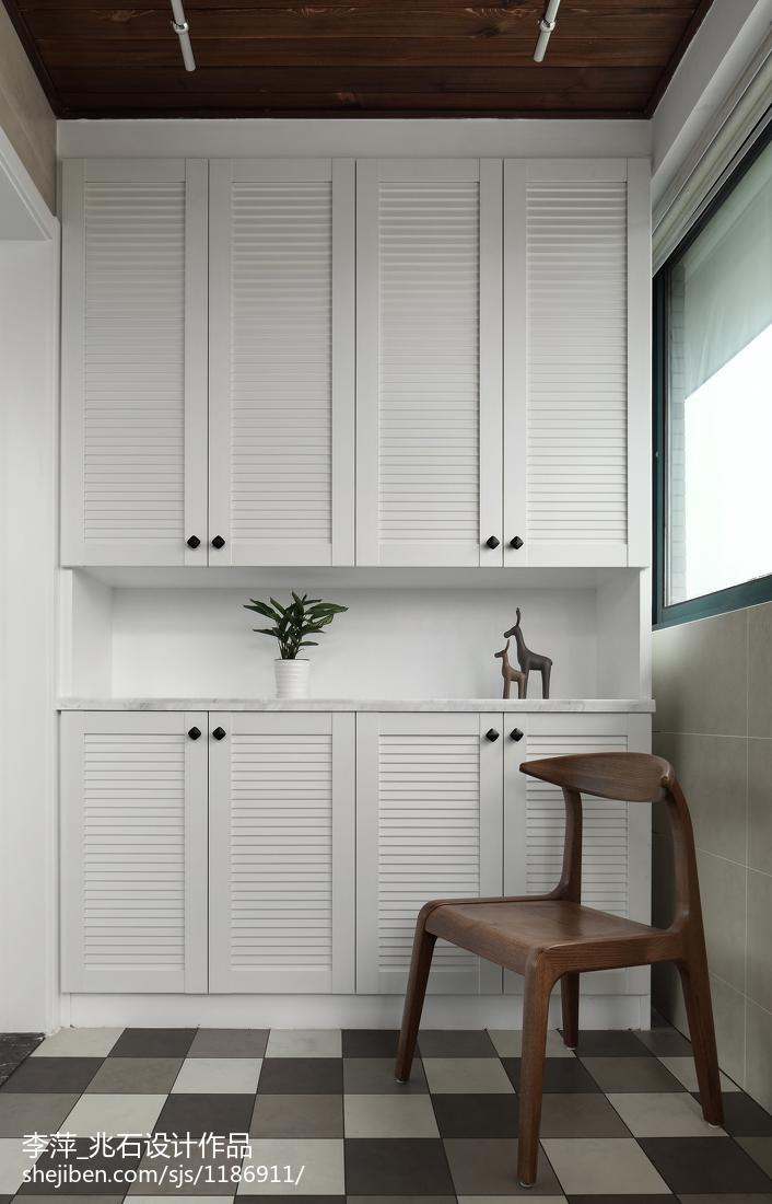 欧式新古典风格家具_简单北欧风三居阳台设计图 – 设计本装修效果图