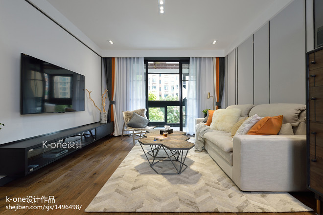 独特现代二居客厅设计图