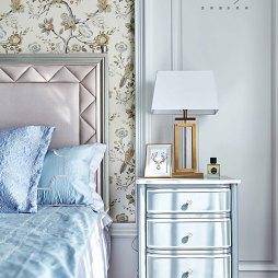 田园美式四居卧室床头灯设计图