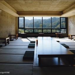 山中桃花源中餐厅地台设计图