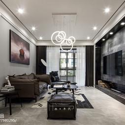 特色现代四居客厅设计效果图