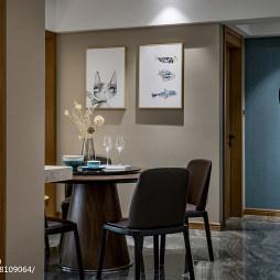 清新现代三居餐厅设计图