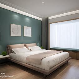 清新现代三居卧室设计效果图