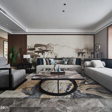明亮现代四居客厅设计图