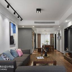 120㎡北欧公寓客厅设计图