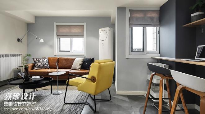 灰色系北欧三居客厅设计图片