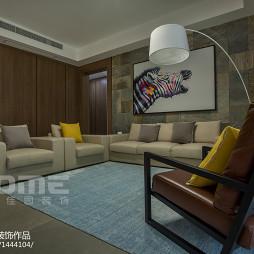 现代客厅背景墙墙画设计图