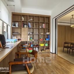 现代家装四居书房书柜设计图