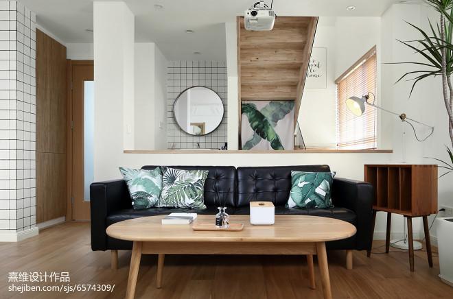 简单日式四居客厅沙发设计图