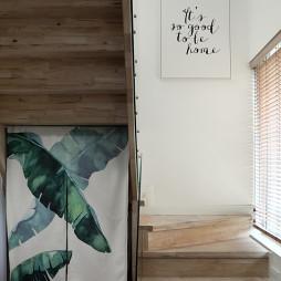 简单日式四居楼梯设计图