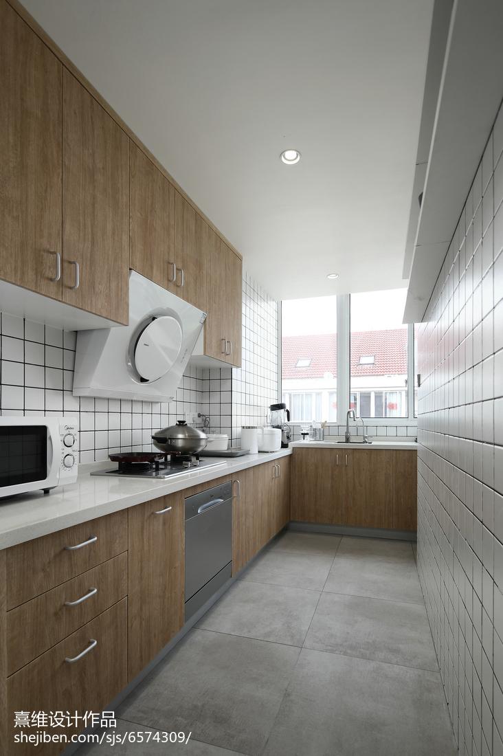 卫生间实景_简单日式四居厨房设计图 – 设计本装修效果图