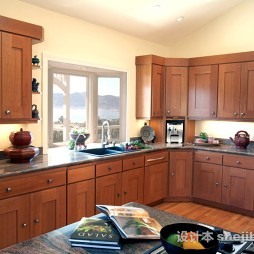 简欧风格木质整体橱柜家居装饰图