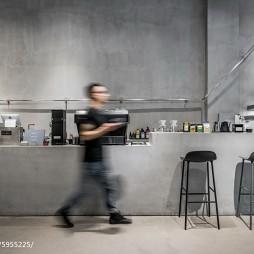 隐木咖啡厅吧台设计图片