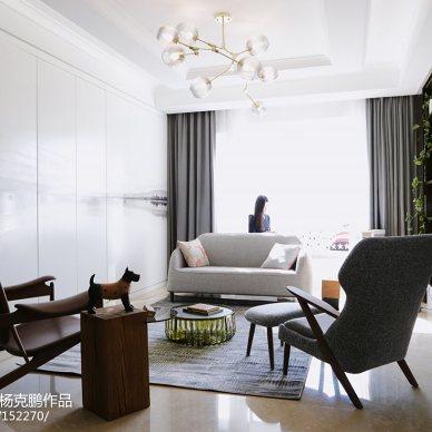 古典混搭三居客厅设计图
