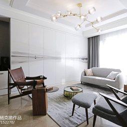 古典混搭三居客厅收纳柜设计图