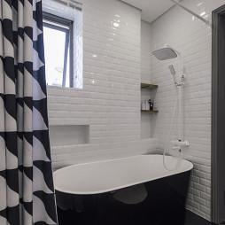 简约现代别墅卫浴设计图