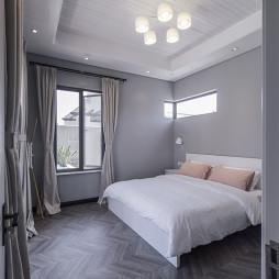 简约现代别墅卧室设计效果图