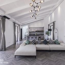 简约现代别墅客厅沙发设计图