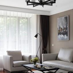简约客厅吊灯设计图片